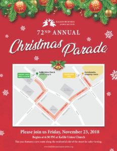 KBA 2018 Christmas Parade Image