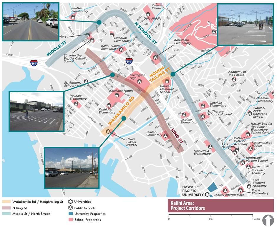Honolulu Complete Streets- Area of Focus in Kalihi